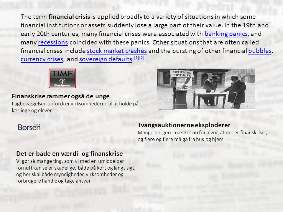 Finanskrise rammer også de unge