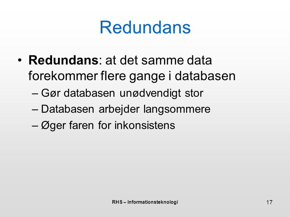 RHS – Informationsteknologi