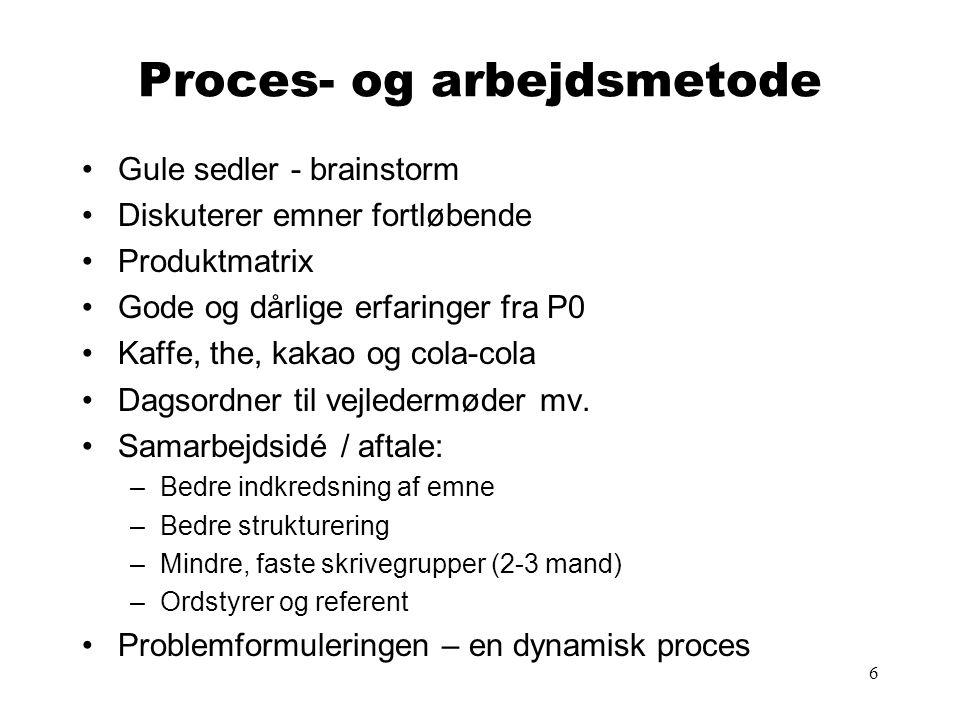 Proces- og arbejdsmetode