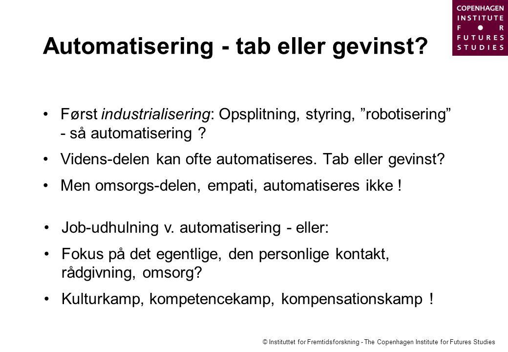 Automatisering - tab eller gevinst