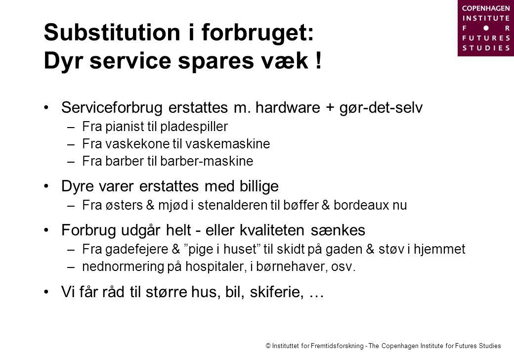 Substitution i forbruget: Dyr service spares væk !