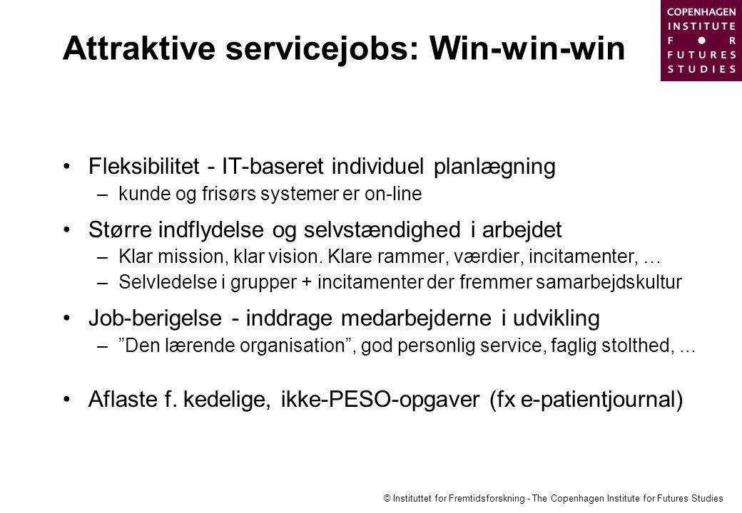 Attraktive servicejobs: Win-win-win
