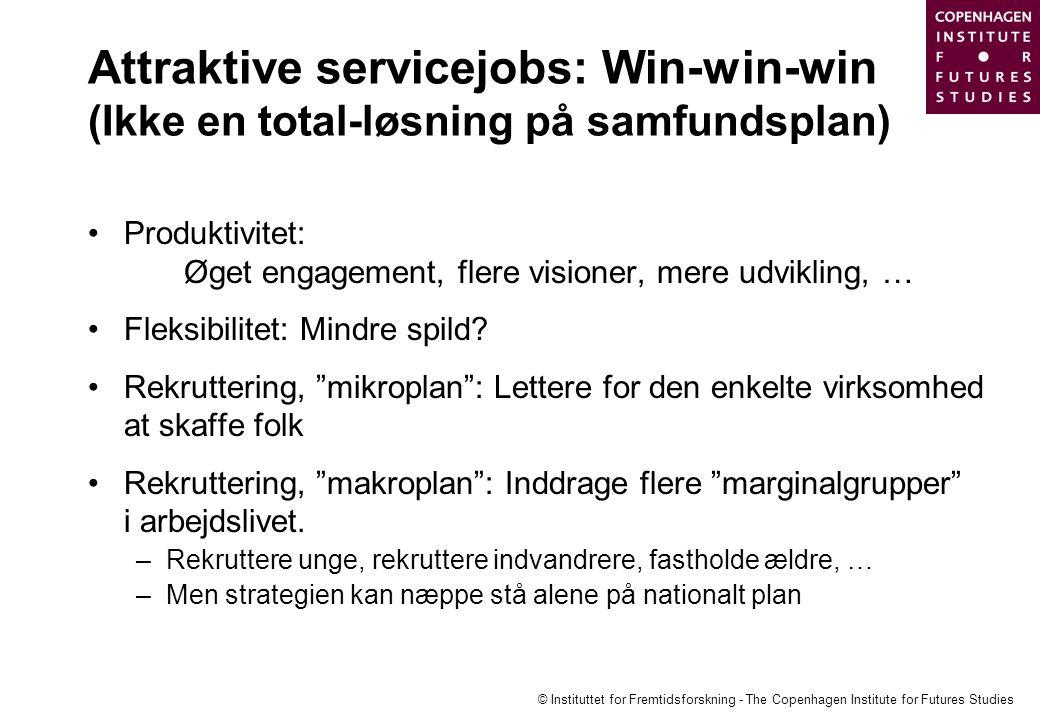 Attraktive servicejobs: Win-win-win (Ikke en total-løsning på samfundsplan)
