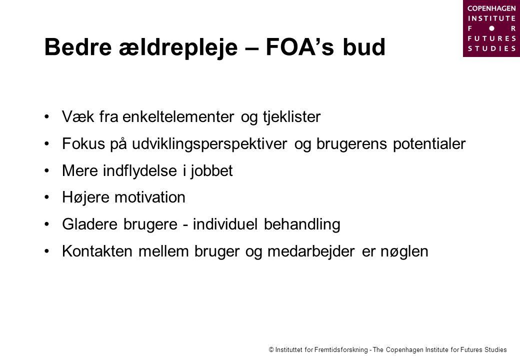 Bedre ældrepleje – FOA's bud