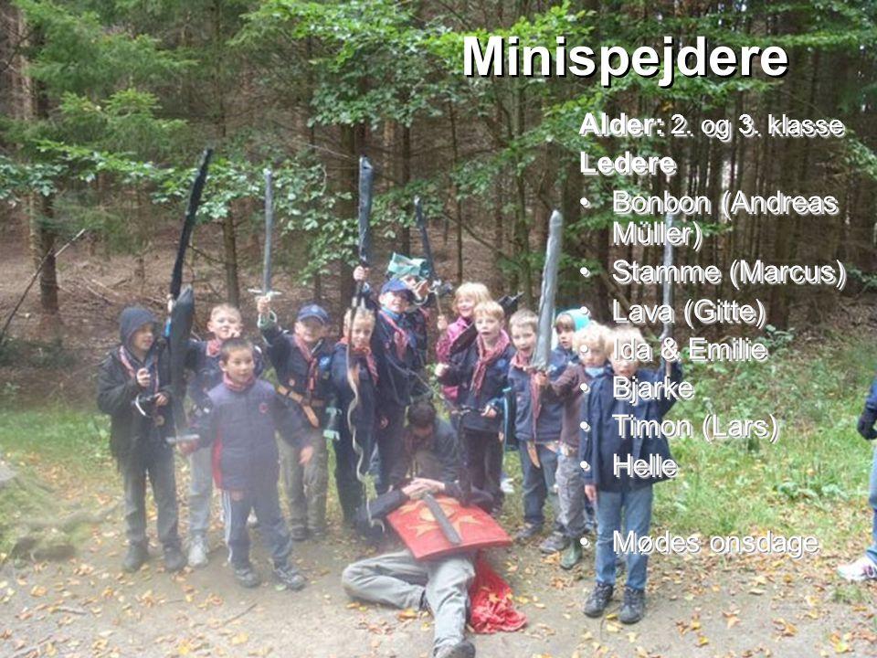 Minispejdere Alder: 2. og 3. klasse Ledere Bonbon (Andreas Müller)