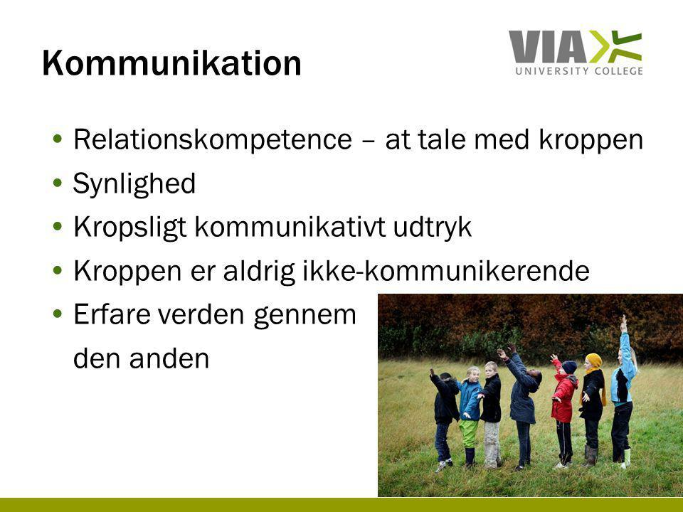 Kommunikation Relationskompetence – at tale med kroppen Synlighed