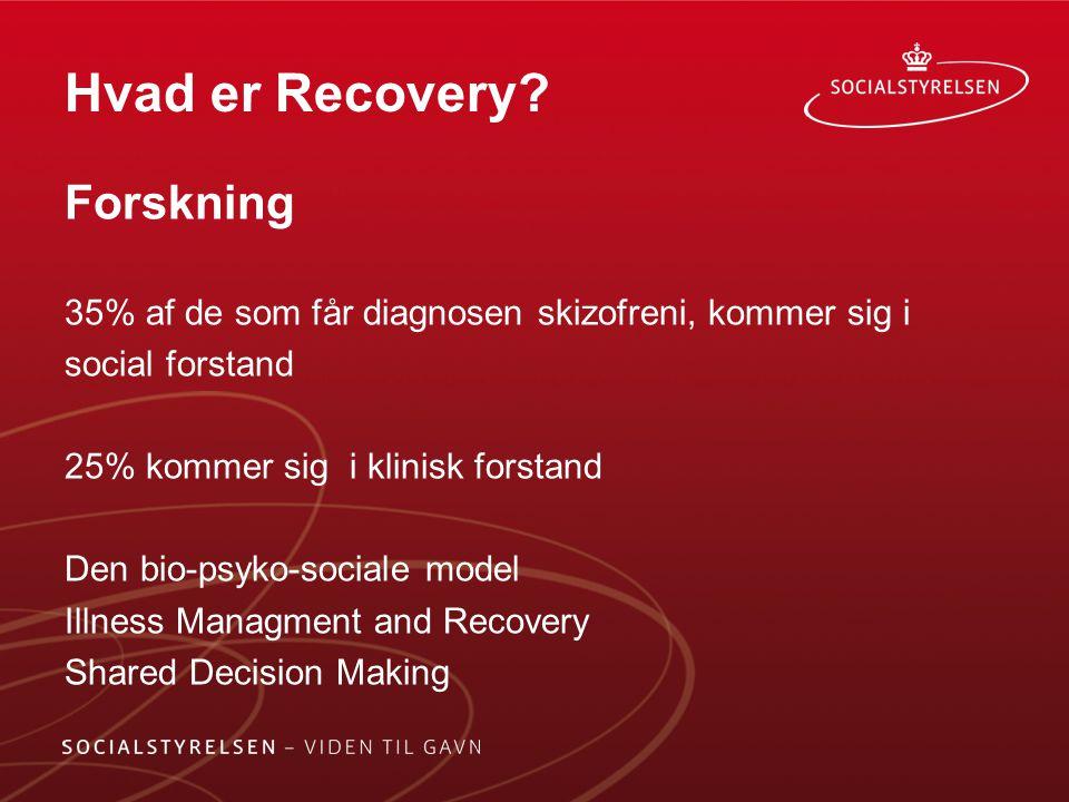 Hvad er Recovery Forskning