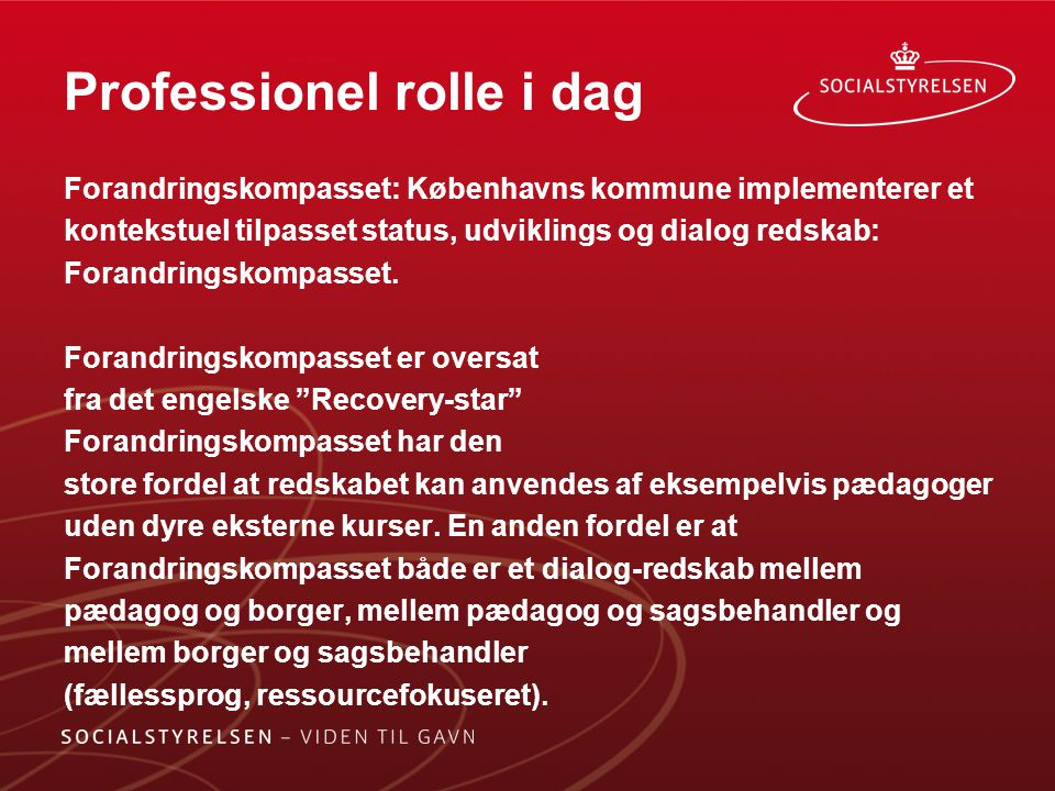 Professionel rolle i dag