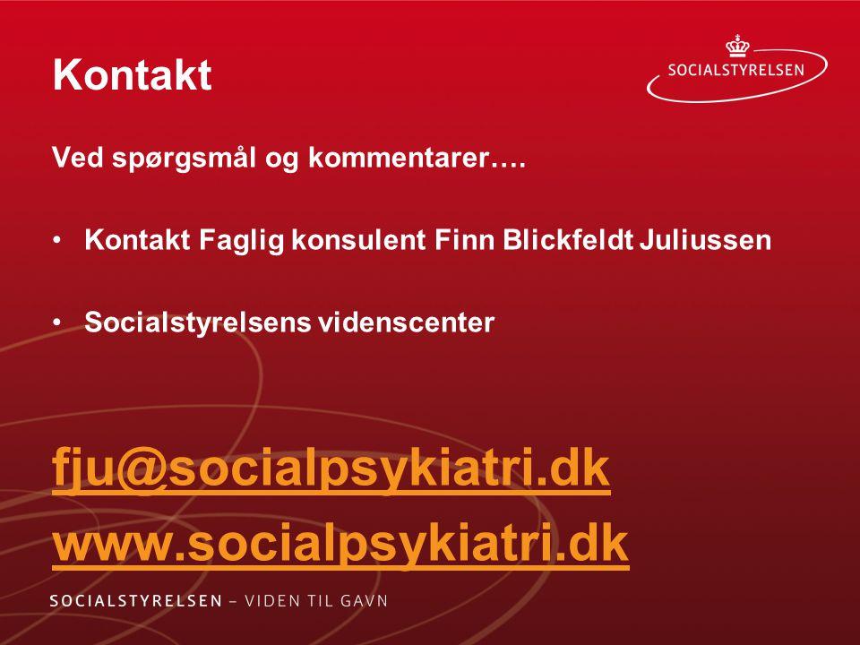 fju@socialpsykiatri.dk www.socialpsykiatri.dk Kontakt