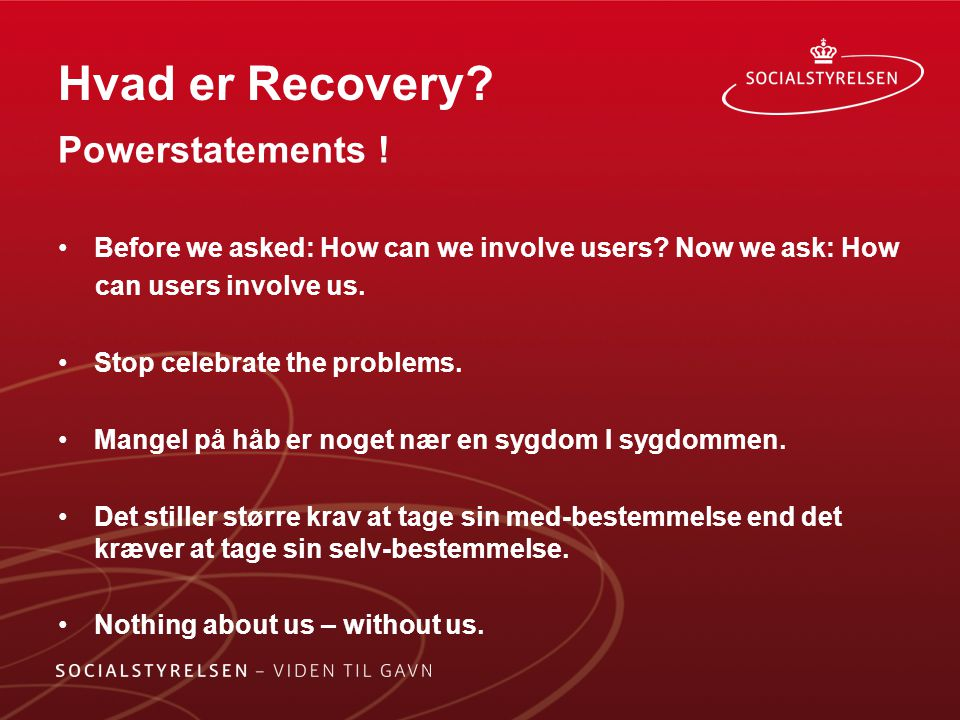 Hvad er Recovery Powerstatements !