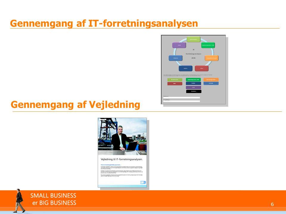 Gennemgang af IT-forretningsanalysen