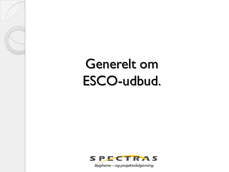 Generelt om ESCO-udbud.