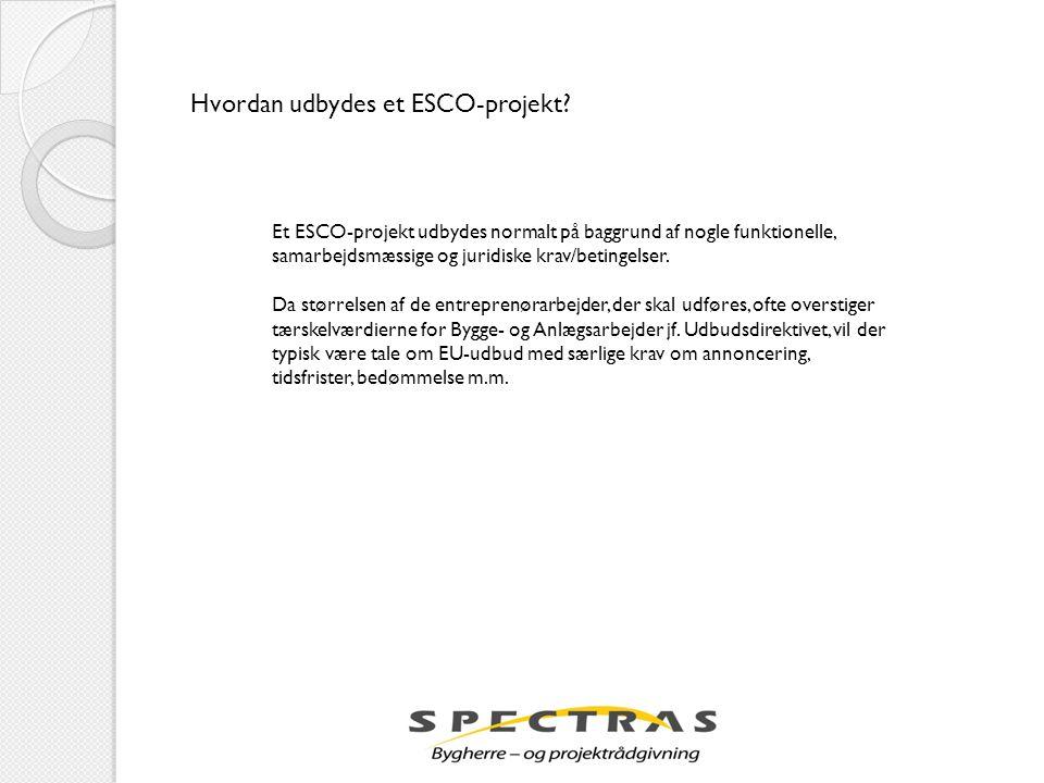 Hvordan udbydes et ESCO-projekt