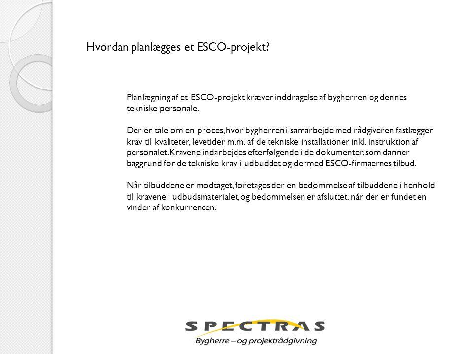 Hvordan planlægges et ESCO-projekt