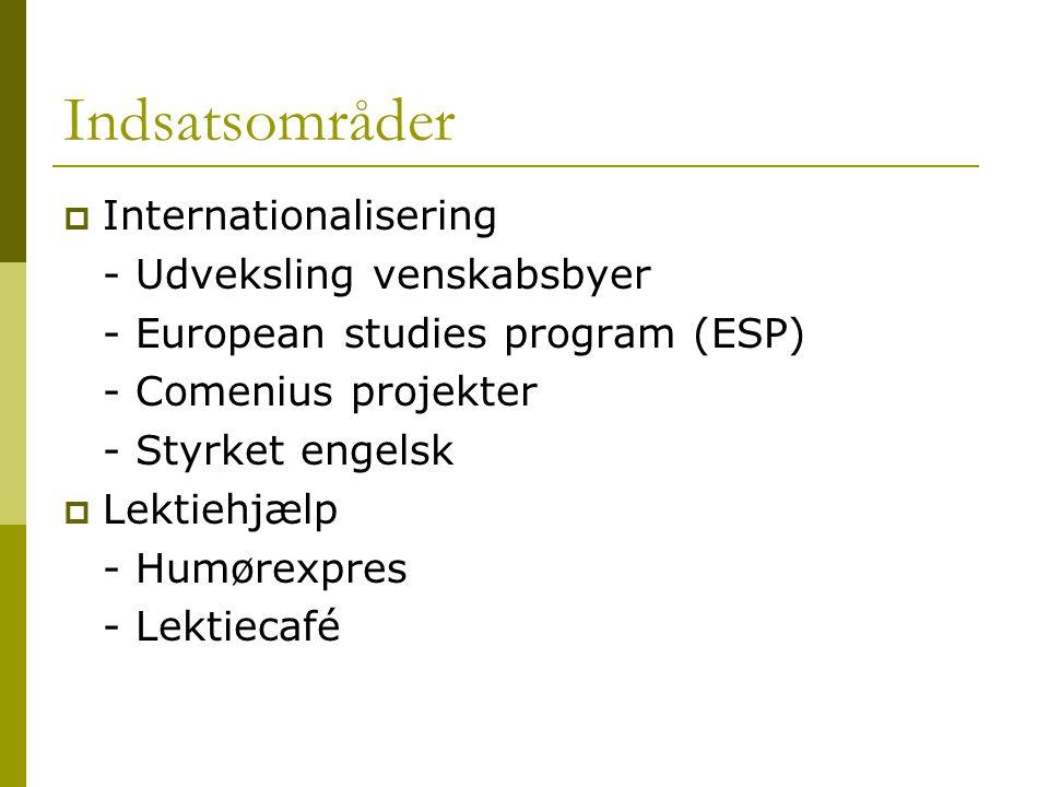 Indsatsområder Internationalisering - Udveksling venskabsbyer