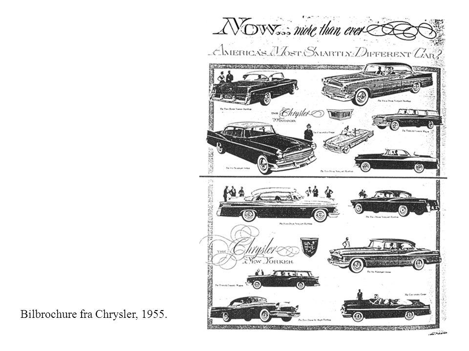 Bilbrochure fra Chrysler, 1955.
