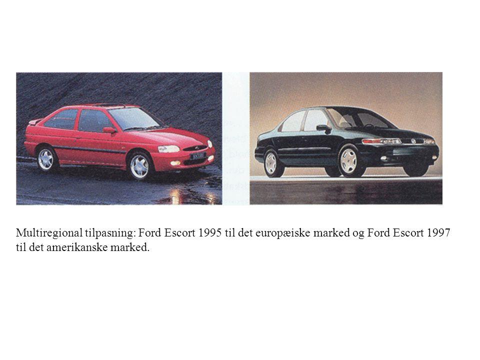 Multiregional tilpasning: Ford Escort 1995 til det europæiske marked og Ford Escort 1997