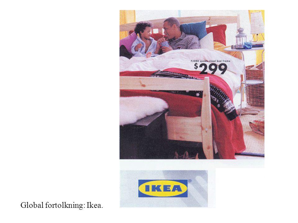 Global fortolkning: Ikea.