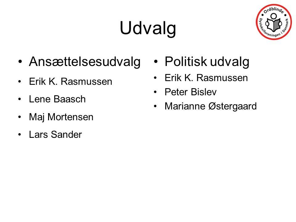 Udvalg Ansættelsesudvalg Politisk udvalg Erik K. Rasmussen Lene Baasch
