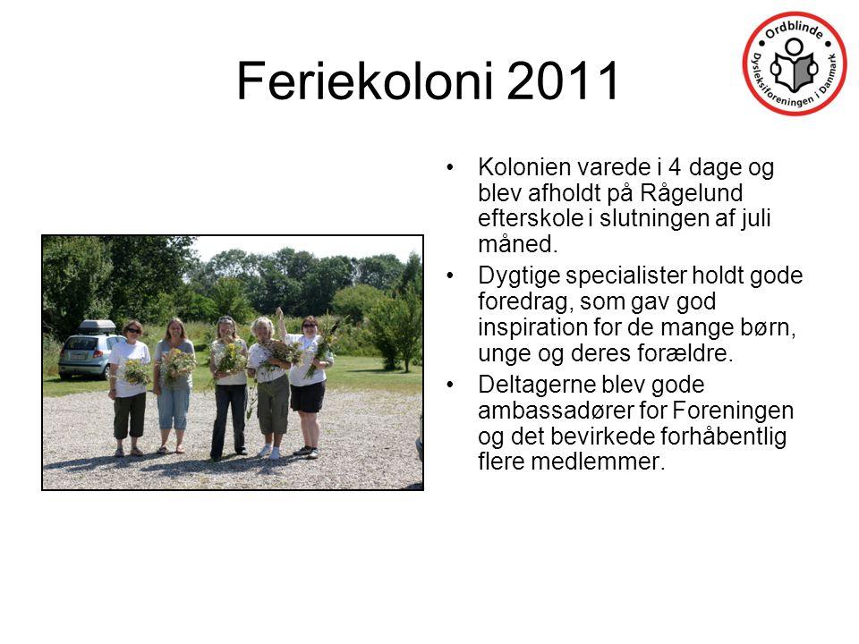 Feriekoloni 2011 Kolonien varede i 4 dage og blev afholdt på Rågelund efterskole i slutningen af juli måned.
