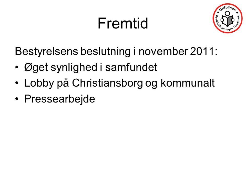 Fremtid Bestyrelsens beslutning i november 2011: