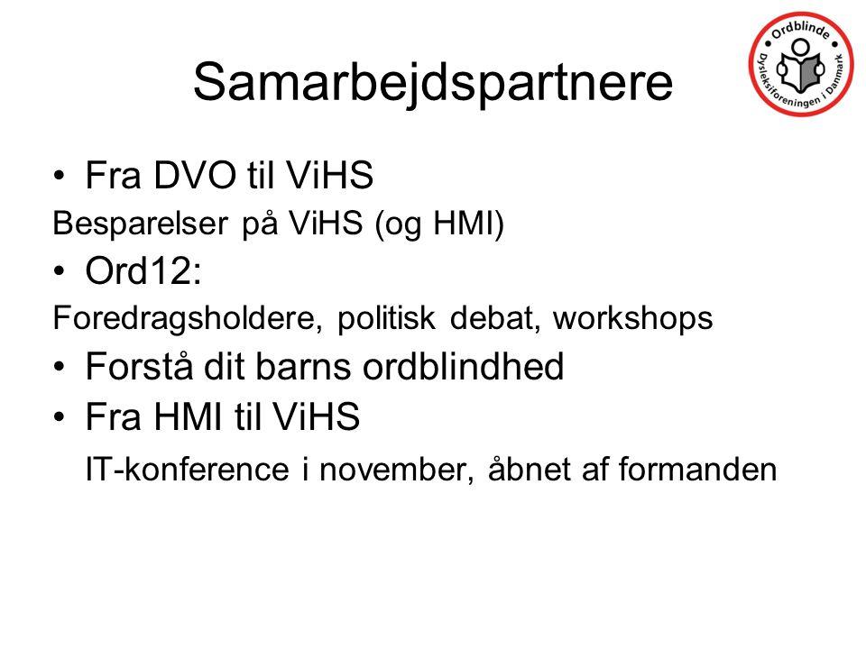 Samarbejdspartnere Fra DVO til ViHS Ord12: