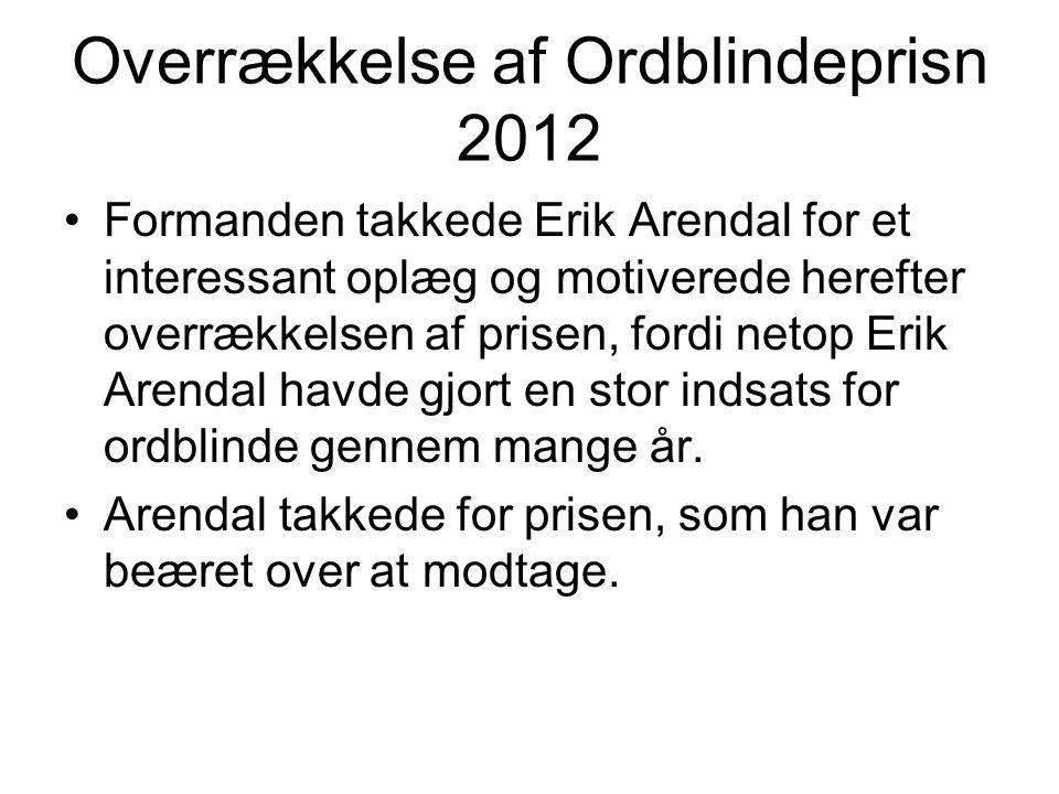 Overrækkelse af Ordblindeprisn 2012