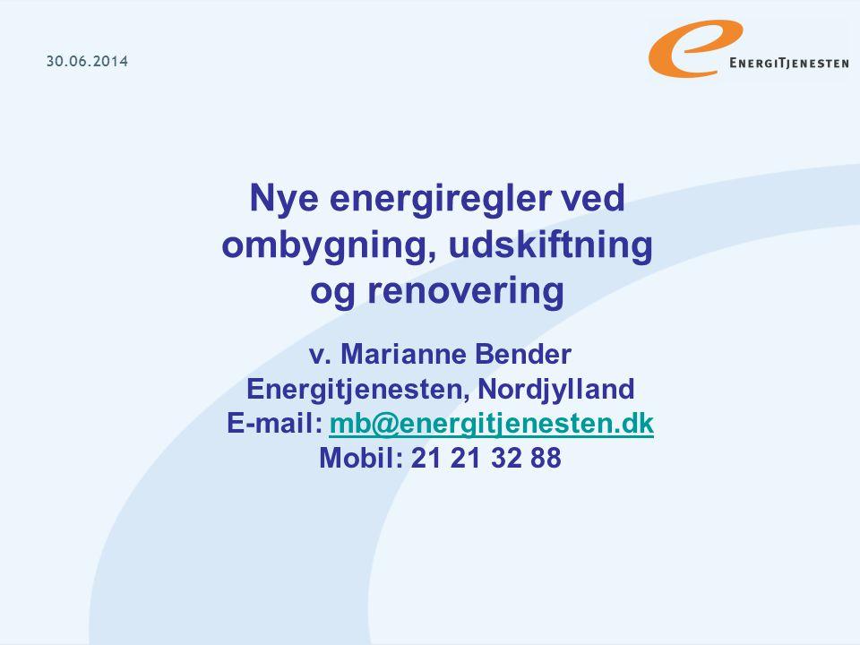 Nye energiregler ved ombygning, udskiftning og renovering