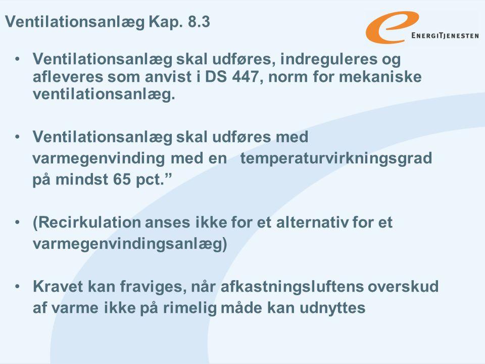 Ventilationsanlæg Kap. 8.3