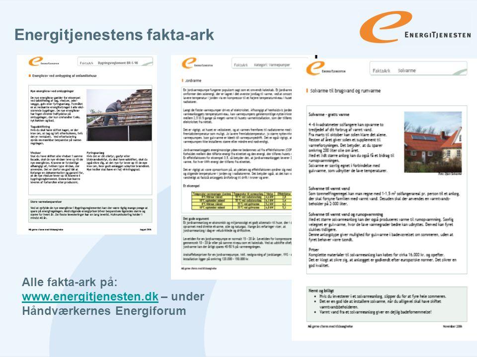 Energitjenestens fakta-ark
