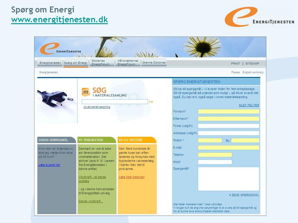 Spørg om Energi www.energitjenesten.dk