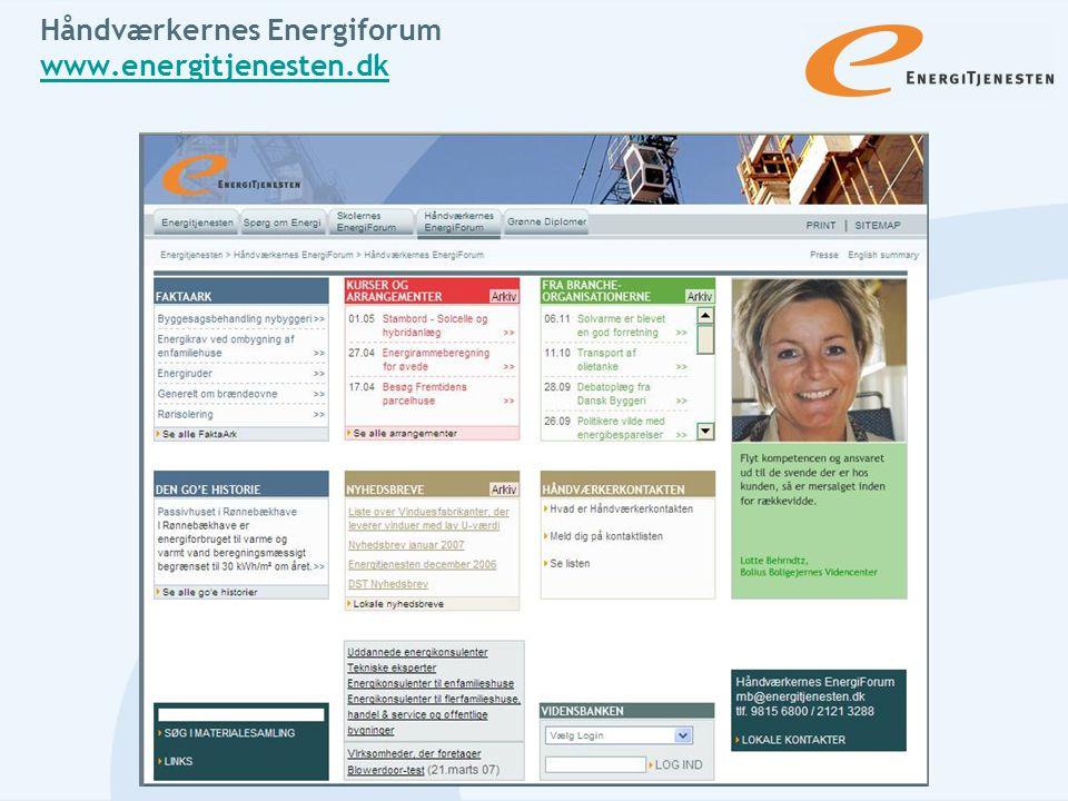 Håndværkernes Energiforum www.energitjenesten.dk