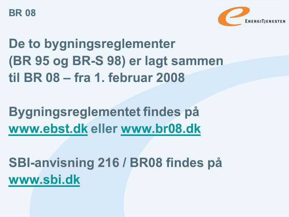 De to bygningsreglementer (BR 95 og BR-S 98) er lagt sammen
