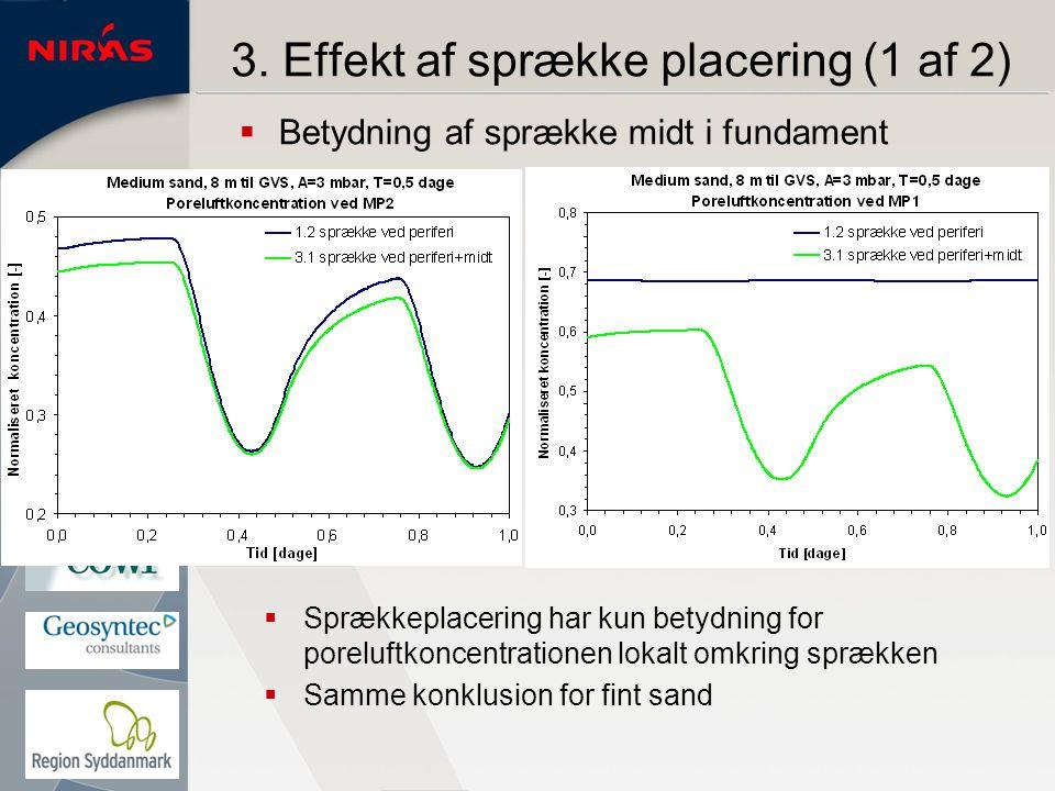 3. Effekt af sprække placering (1 af 2)