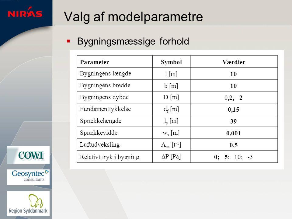 Valg af modelparametre