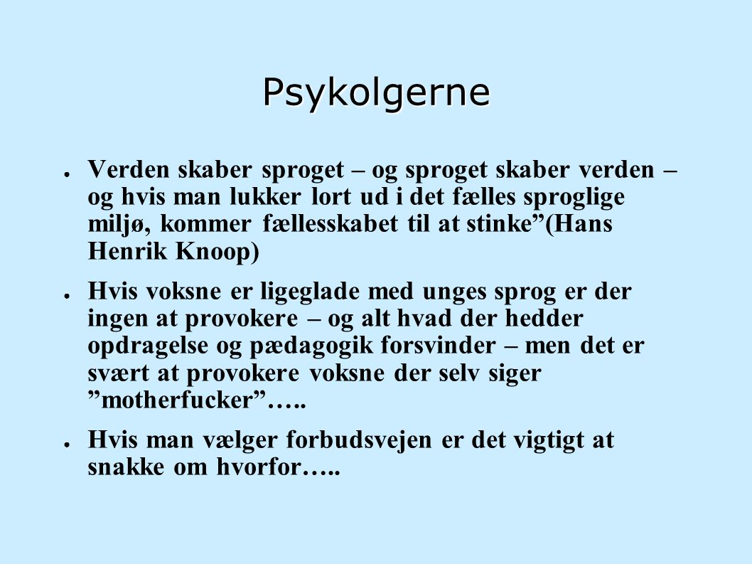 Psykolgerne