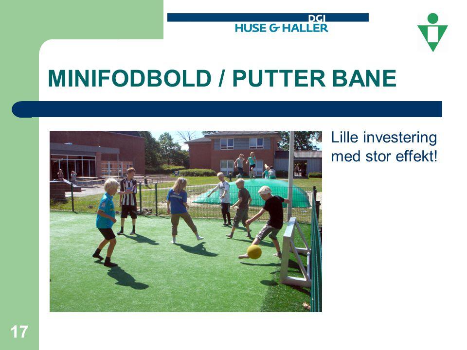 MINIFODBOLD / PUTTER BANE