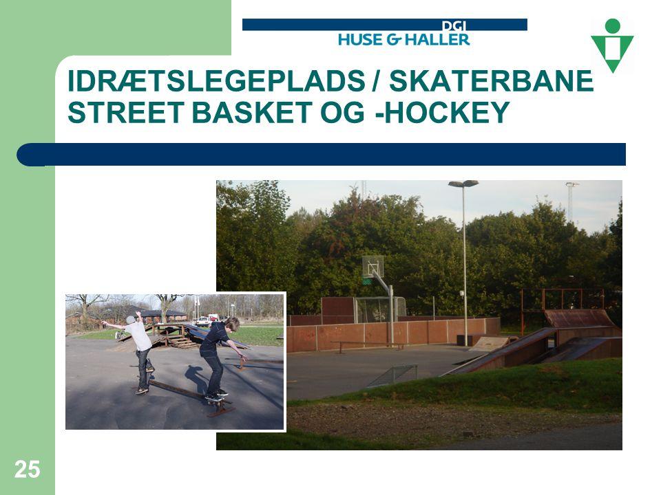 IDRÆTSLEGEPLADS / SKATERBANE STREET BASKET OG -HOCKEY