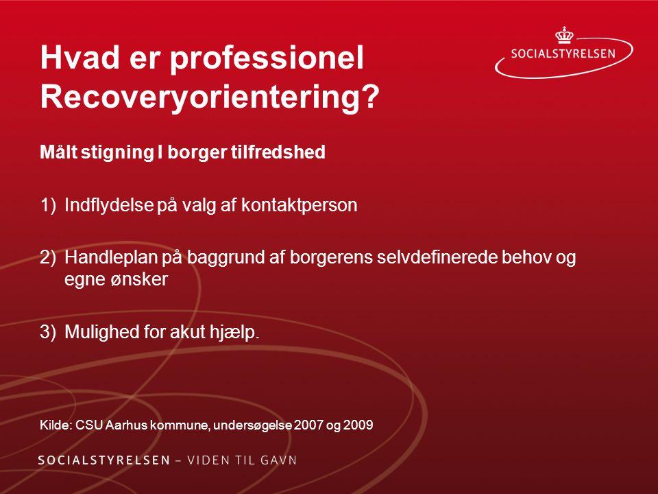 Hvad er professionel Recoveryorientering