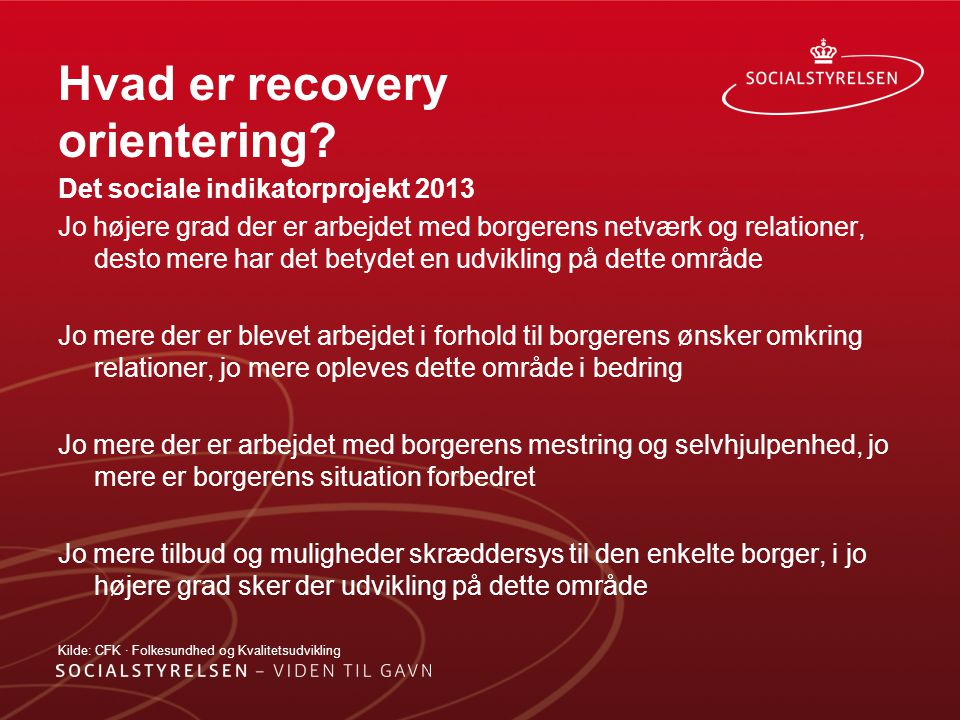 Hvad er recovery orientering