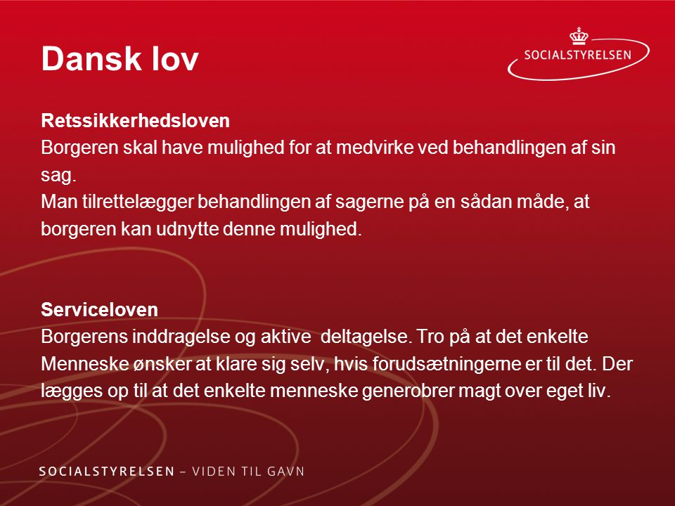 Dansk lov Retssikkerhedsloven