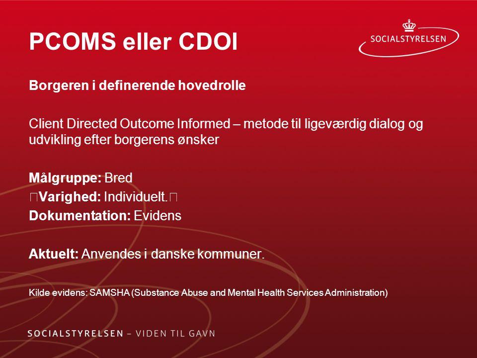 PCOMS eller CDOI Borgeren i definerende hovedrolle