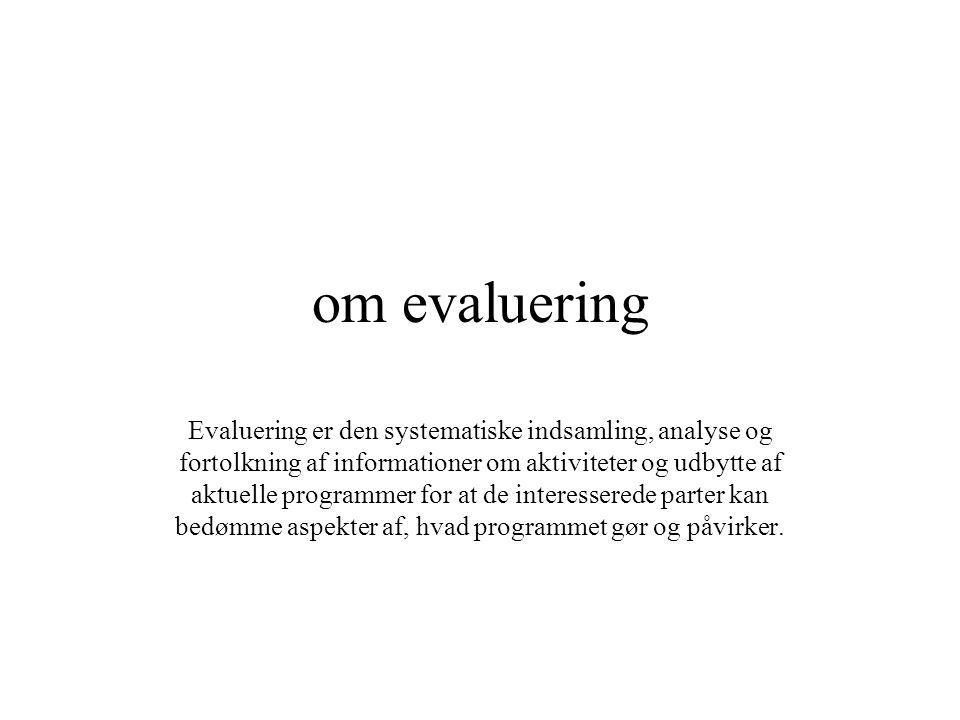 om evaluering