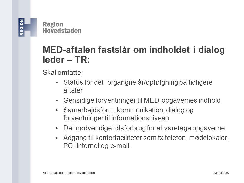 MED-aftalen fastslår om indholdet i dialog leder – TR: