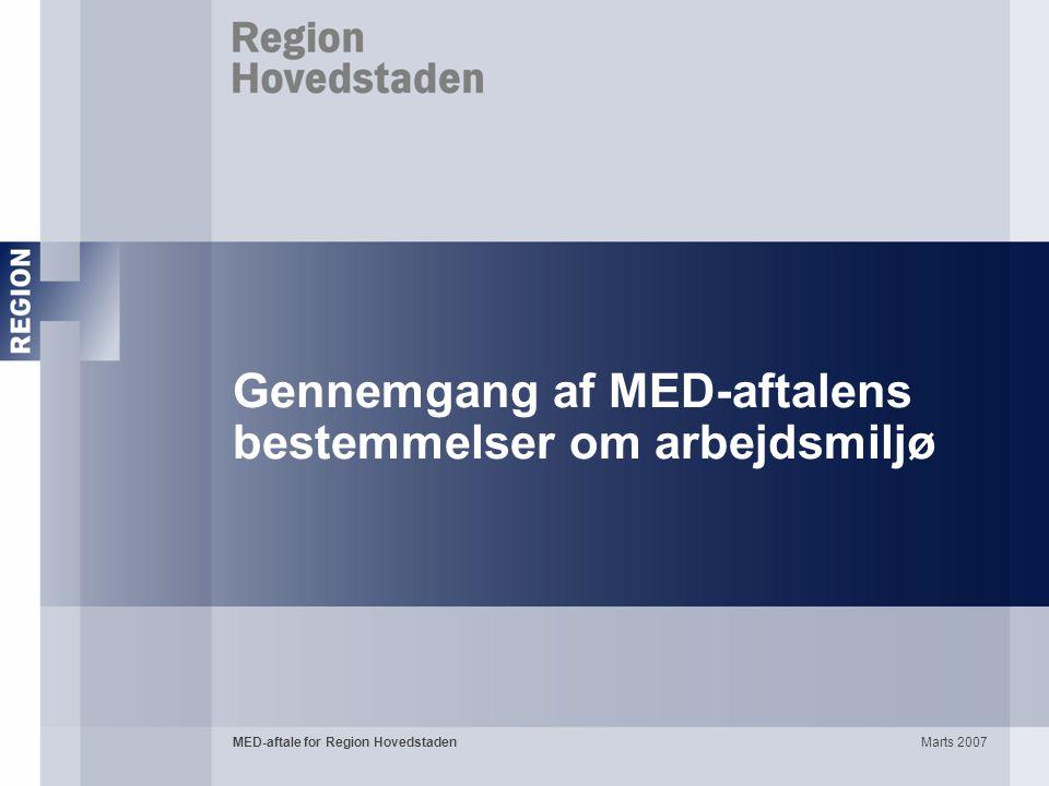Gennemgang af MED-aftalens bestemmelser om arbejdsmiljø