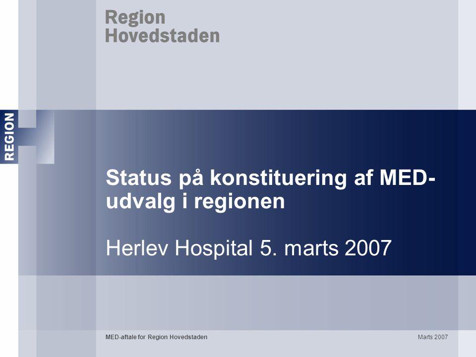 Status på konstituering af MED-udvalg i regionen Herlev Hospital 5