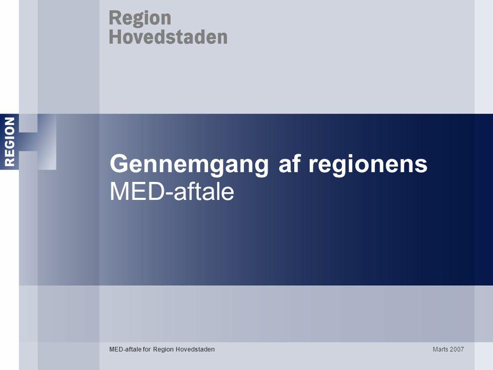 Gennemgang af regionens MED-aftale