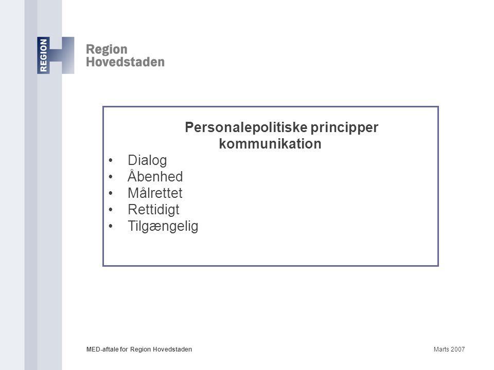 Personalepolitiske principper