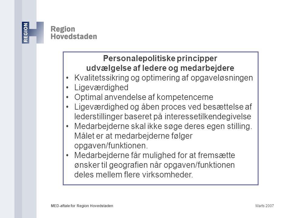 Personalepolitiske principper udvælgelse af ledere og medarbejdere