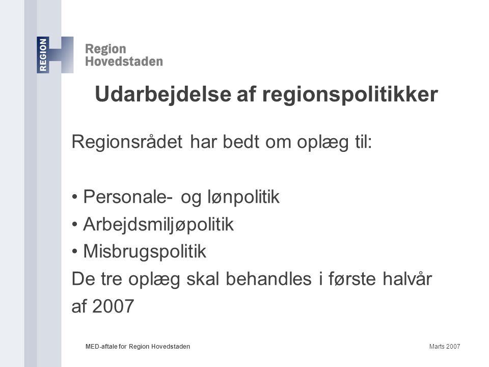 Udarbejdelse af regionspolitikker